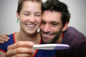 Happy couple finding out they are pregnant!